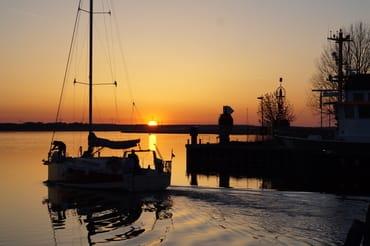 Sonnenuntergang Hafen  Karlshagen