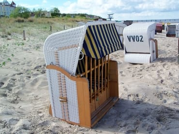eigener Strandkorb am Strand Juni - Sept.
