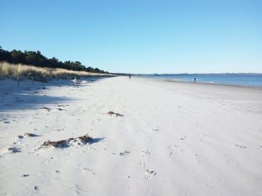 Ostseestrand im Winter