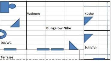 Grundriss Bungalow Nike