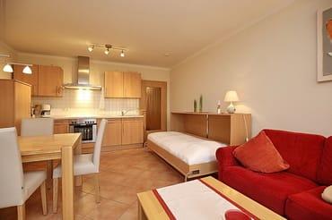 Großzügiger Wohnbereich mit fünftem Schlafplatz