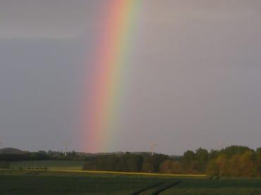 Der Regenbogen ist immer wieder schön anzusehen.