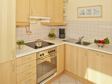 separate Küche mit Zugang zum Südbalkon
