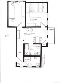 Grundriss der Wohnung Mach mal blau