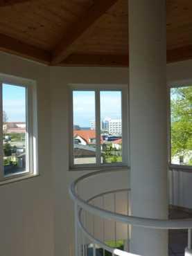 Im Treppenturm der Villa