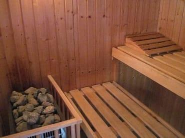 Sauna mit Dampfbadfunktion