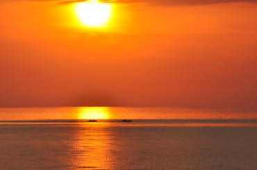 Sonnenuntergang auf der Insel Hiddensee