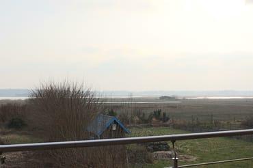 Balkon mit Boddenblick