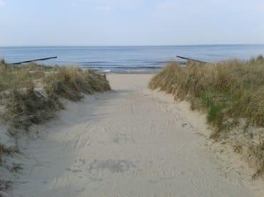 ein Strandzugang