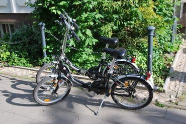 Zwei Fahrräder frei zur Verfügung