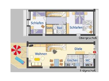 Ferienhaus Residenz zu den 3 Tannen Zingst - Grundriss
