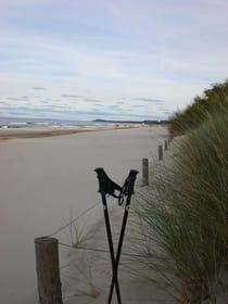 Walken am Strand