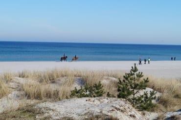 der breite feinsandige Strand