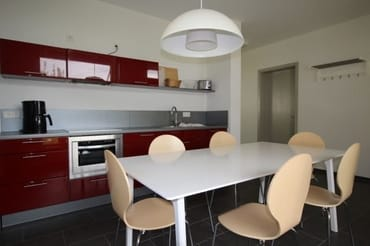 Küche mit Platz für 6 Personen