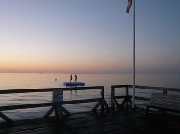 Gelegenheit für ein letztes Bad in der Ostsee