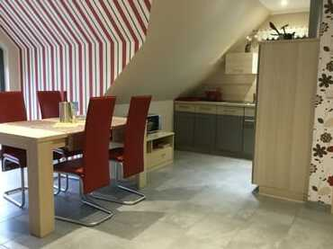 Der komfortable Küchen- Essbereich