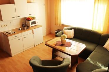 Wohnzimmer mit Kochgelegenheit