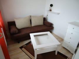 Separates Schlafzimmer mit Schlafcouch (ca. 140 cm Liegefläche)