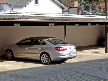 Parkplatz/Carport Hof Haus Godewind Zugang hintere Haustür
