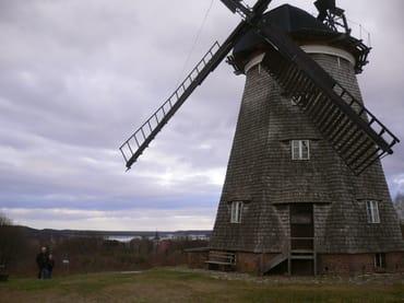 Gute Aussicht bei Windmühle in Benz auf Usedom nahe Heringsdorf