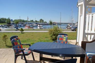 Ferienwohnung Hafenidyll Nr. 40 - Sonnenterrasse mit Hafenblick