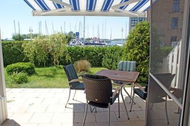 Ferienwohnung Hafenidyll Nr. 07 - Sonnenterrasse mit Hafenblick