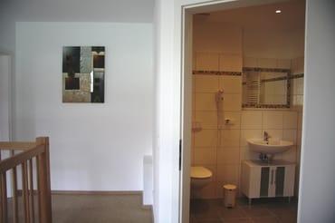 Das zweite Duschbad im Obergeschoss.