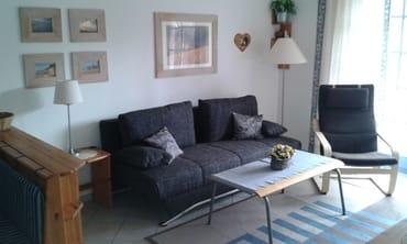 Wohnzimmer mit Bettsofa 1,40 x 1,95 m
