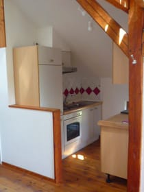 Küche mit Geschirrspüler/Ceranfeld