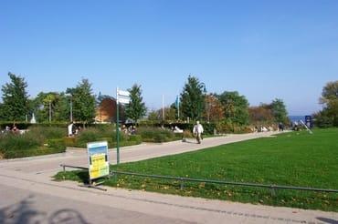 Kurpark in Heringsdorf, in der Nähe der Villa Perkunos