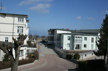 Blick vom Balkon zum Meer