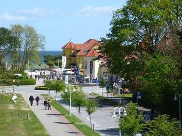 Blick zur Ostsee vom Balkon und Wohnzimmer
