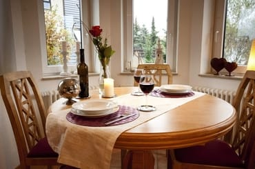 So oder ähnlich könnte ein romantisches Essen zu Zweit aussehen.