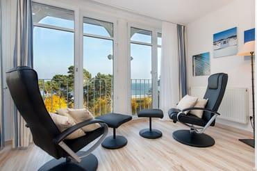 Vom großen Wohnzimmer aus genießen Sie einen wunderbaren ...