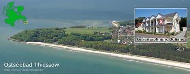 Luftaufnahme Ferienwohnung Juliane