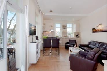 ... und bietet auf 56 Qudratmetern genügend Platz für eine erholsame Urlaubszeit für Familien mit bis zu 4 Personen.