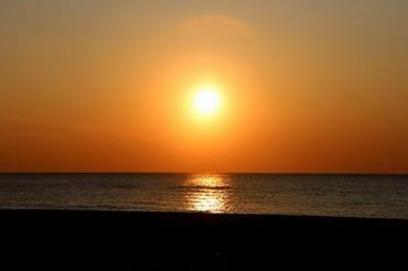 Sonnenuntergan in Dierhagen Strand