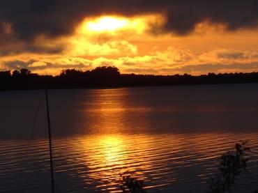 Sonnenuntergang über den Wieker Bodden