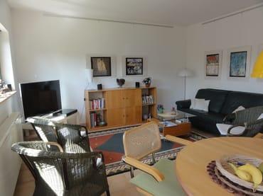 """Wohnzimmer mit 50"""" HD-Flachbildfernseher mit Sat"""