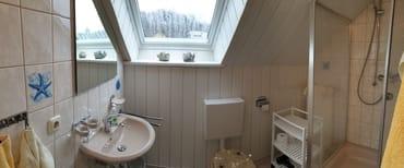Badezimmer mit Dusche/WC inkl. Fön