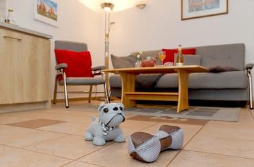 Ein kostenfreier W-LAN-Zugang sowie ein Stellplatz direkt am Haus runden den Urlaubskomfort dieses Appartements ab.