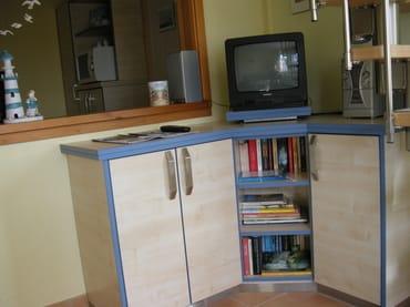 Fernsehschrank im Wohnbereich