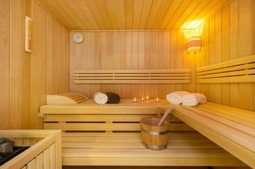 klassische Finn-Sauna für 4 Personen aus dem Hause Klafs