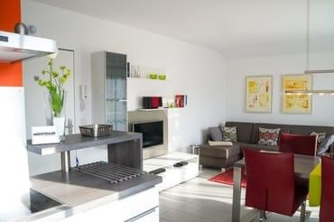 Der TV-Bereich im Wohnzimmer