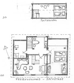 Grundriss der Ferienwohnung ROHRSPATZ