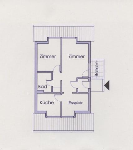 Grundriss unserer Wohnung