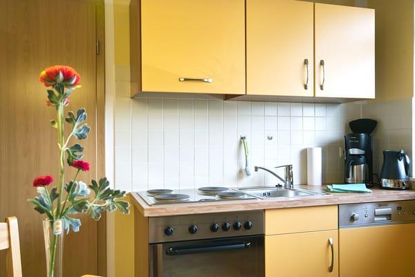 Küchenzeile mit Eherd/Backofen