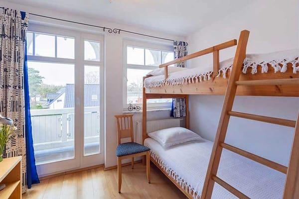 Zweites Schlafzimmer mit Hochbett
