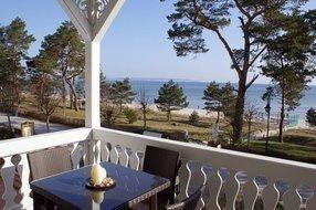 Blick vom Balkon auf die Ostsee