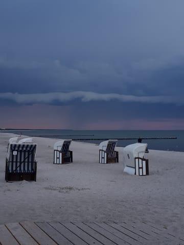 Gewitter über der Ostsee
